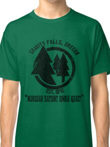 Gravity Falls Town Emblem & Motto Classic T-Shirt