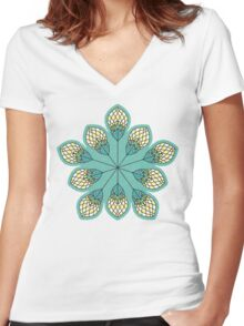 Windy Buds Women's Fitted V-Neck T-Shirt