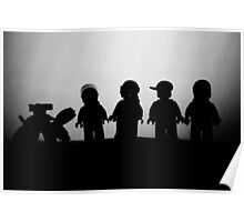 silhouette of Spacemen Poster