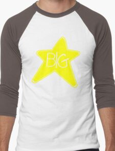 Big Star Rock Black T-shirt Sz S M L XL Men's Baseball ¾ T-Shirt