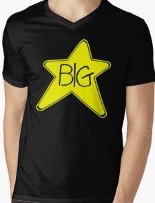 Big Star Rock Black T-shirt Sz S M L XL Mens V-Neck T-Shirt