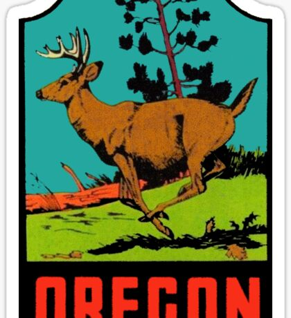 Oregon Vintage Travel Decal Sticker