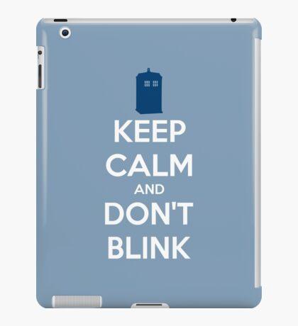 Keep Calm And Don't Blink ver.lightblue iPad Case/Skin