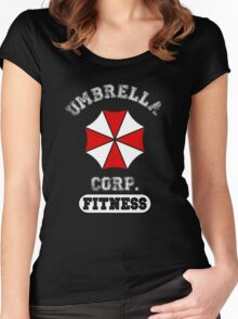 Umbrella Corp. Fitness Women's Fitted Scoop T-Shirt
