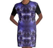 Purple Paradise Graphic T-Shirt Dress