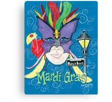 Face Of Mardi Gras ~ New Orleans ~ Acrylic Painting Canvas Print