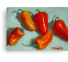 Mini Pepper Study No 3 Canvas Print