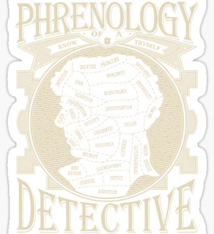 Phrenology of a detective - Sherlock Sticker