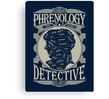 Phrenology of a detective - Sherlock Canvas Print