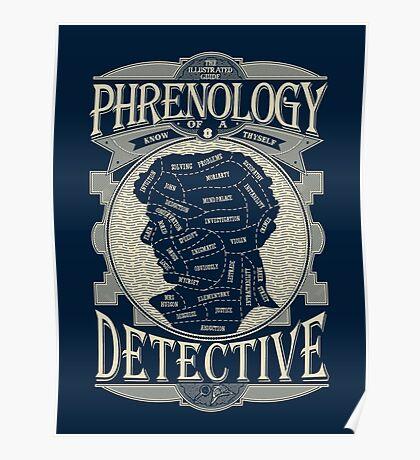 Phrenology of a detective - Sherlock Poster