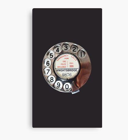 Retro Rotary Phone Dial On Canvas Print