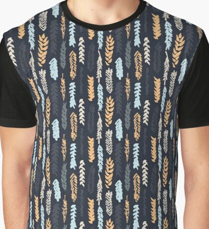 Dark pattern with cereals Graphic T-Shirt