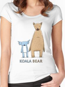 Cute Koala Bear Women's Fitted Scoop T-Shirt