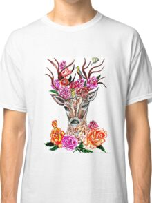 Deer with Flowers 2 Classic T-Shirt