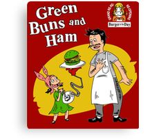 Green Buns and Ham Canvas Print