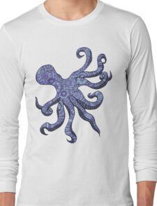 Mehndi Octopus Long Sleeve T-Shirt