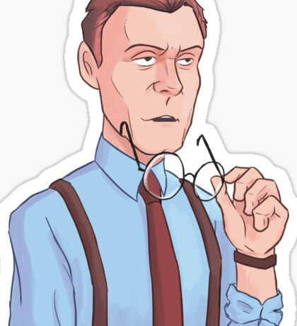 Annoyed Rupert Giles Sticker