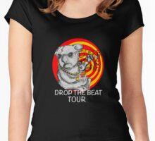 Drop the beat drop bear Women's Fitted Scoop T-Shirt