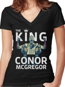 Conor Mcgregor - The King Women's Fitted V-Neck T-Shirt