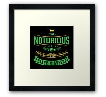 The Notorious - Conor Mcgregor Framed Print