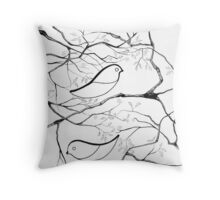 Paper Birds Throw Pillow
