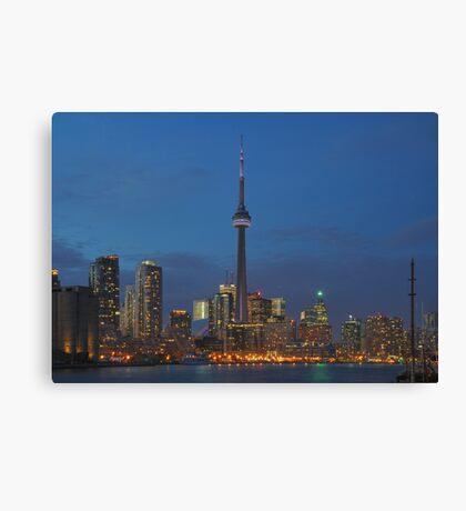 Toronto Skyline By Night Canvas Print