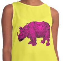 pink rhinoceros - pop durer Contrast Tank