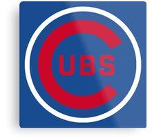 Cubs Baseball Premium Quality Metal Print