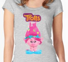poppy from trolls Women's Fitted Scoop T-Shirt