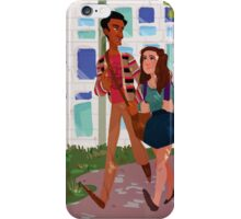 Walk to Class - Annie&Abed iPhone Case/Skin