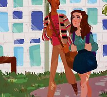 Walk to Class - Annie&Abed by shusihi