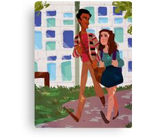Walk to Class - Annie&Abed Canvas Print
