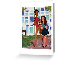 Walk to Class - Annie&Abed Greeting Card