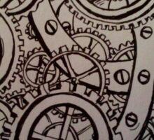 Dream in Steampunk Sticker