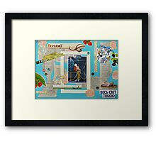 The Belle Epoque Collage Framed Print
