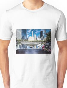 Twin towers 911 memorial pool Unisex T-Shirt