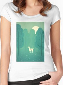 Goat forest Women's Fitted Scoop T-Shirt