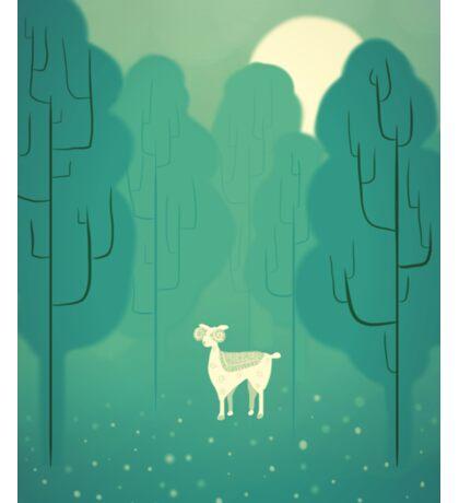 Goat forest Sticker
