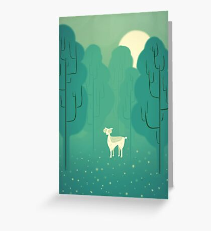 Goat forest Greeting Card