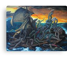 Raft of Reptile Rescue after Gericault Canvas Print
