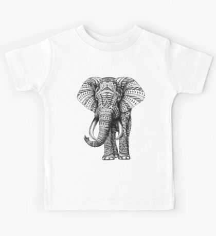 Ornate Elephant Kids Tee