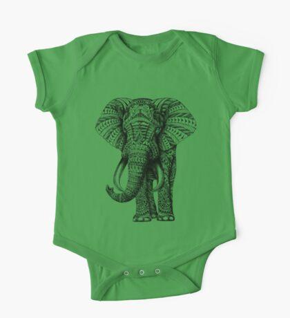 Ornate Elephant One Piece - Short Sleeve