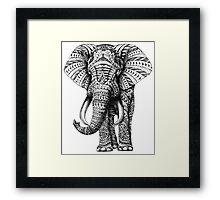 Ornate Elephant Framed Print