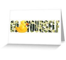 Go Duck Yourself - Funny Cartoon Greeting Card
