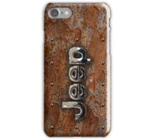 Rustic Jeep with chrome typograph iPhone Case/Skin