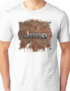 Rustic Jeep with chrome typograph Unisex T-Shirt