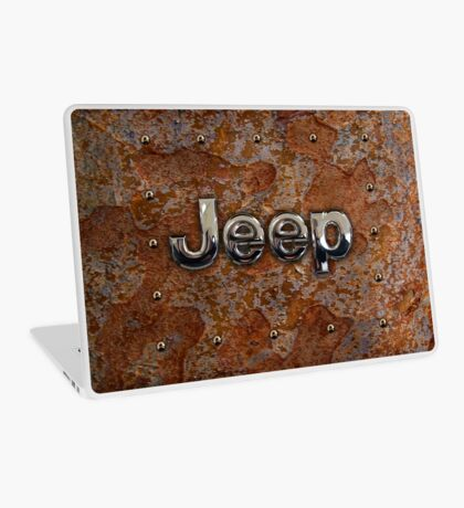 Rustic Jeep with chrome typograph Laptop Skin