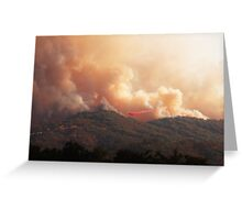 Black Bart Wildfire near Lake Mendocino Greeting Card