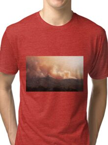 Black Bart Wildfire near Lake Mendocino Tri-blend T-Shirt
