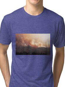 Black Bart Wildfire near Lake Mendocino Tri-blend T-Shirt